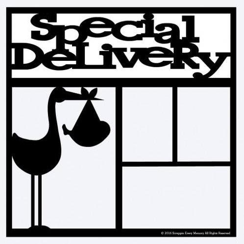 Special Delivery Scrapbook Overlay