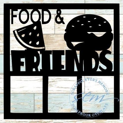 Food & Friends Scrapbook Overlay