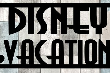 Disney Vacation Scrapbook Title