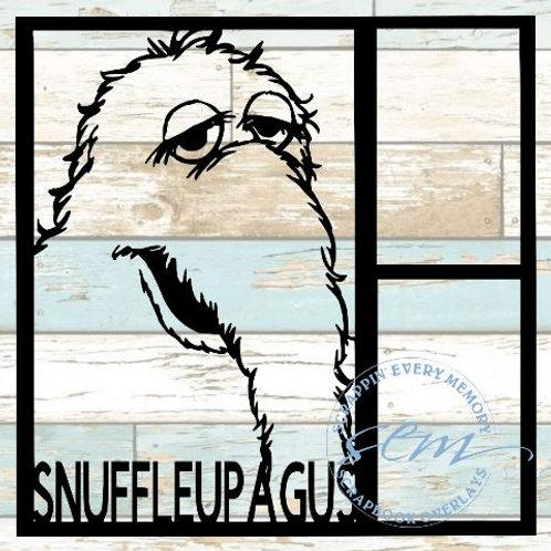Snuffleupagus Sesame Street Scrapbook Overlay