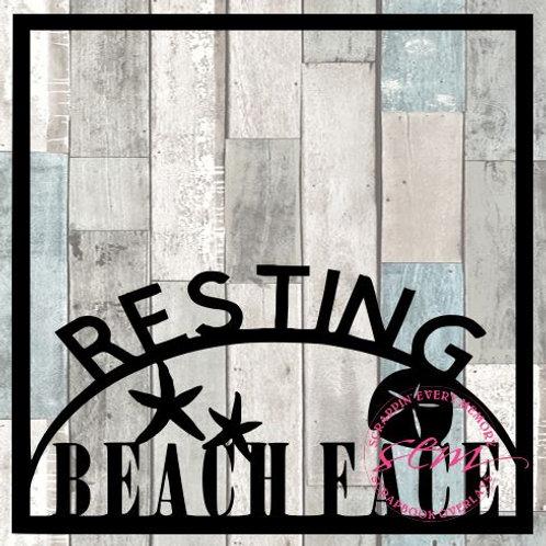 Resting Beach Face Scrapbook Overlay