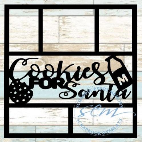 Cookies For Santa Scrapbook Overlay