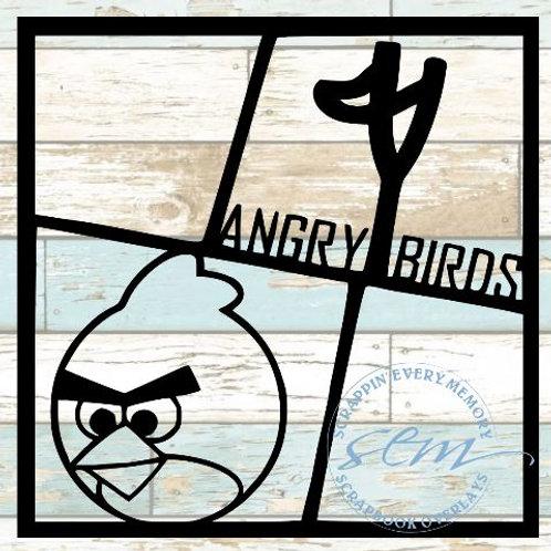 Angry Birds Scrapbook Overlay