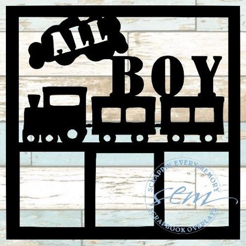 All Boy Scrapbook Overlay