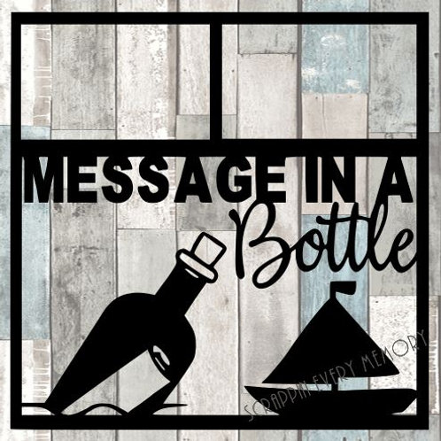 Message In A Bottle Scrapbook Overlay