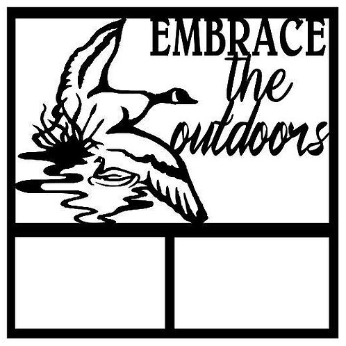 Embrace The Outdoors Scrapbook Overlay