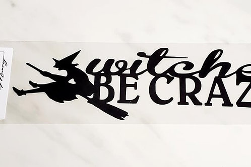 Witches Be Crazy Scrapbook Deluxe Die Cut