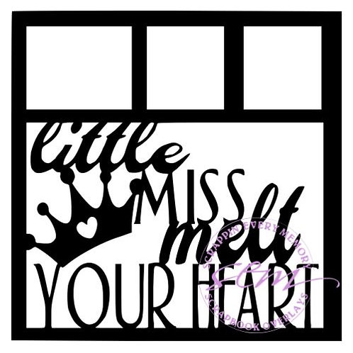 Little Miss Melt Your Heart Scrapbook Overlay