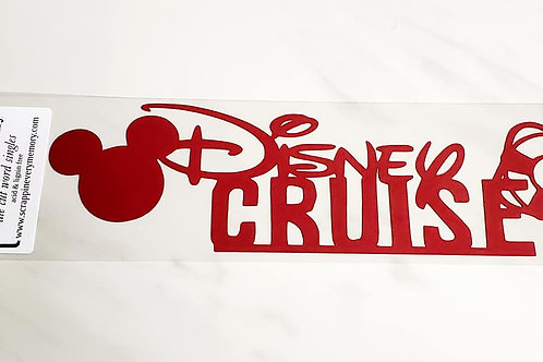 Disney Cruise Scrapbook Deluxe Die Cut