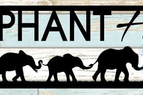 Elephant Herd Scrapbook Title