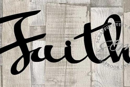 Faith Scrapbook Page Script Single
