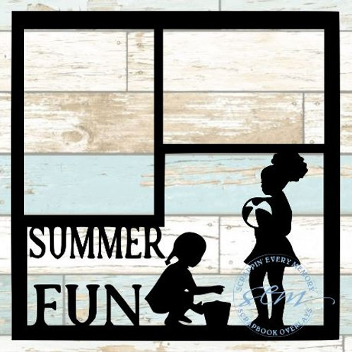 Summer Fun Scrapbook Overlay