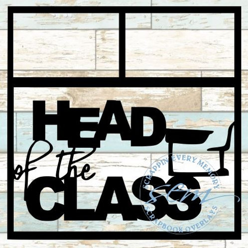 Head Of The Class Scrapbook Overlay