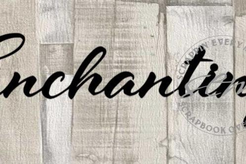 Enchanting Scrapbook Page Script Single