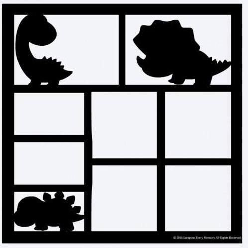 Dinosaurs Scrapbook Overlay