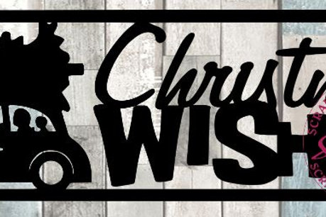 Christmas Wishes Scrapbook Title