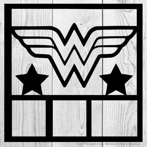 Wonder Woman Scrapbook Overlay