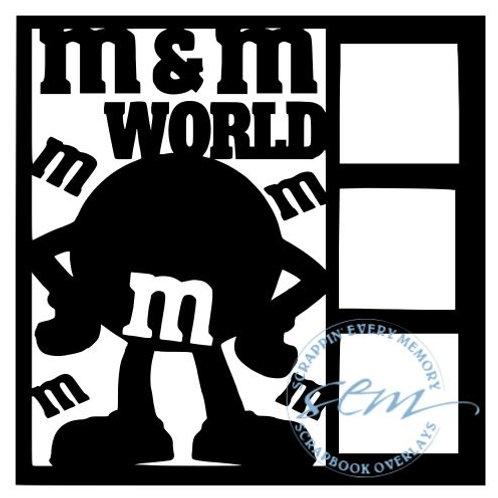M and M World Scrapbook Overlay