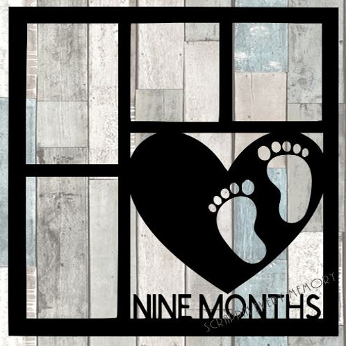Nine Months Scrapbook Overlay