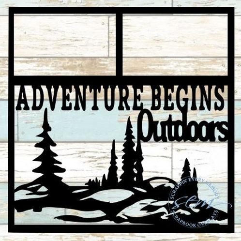 Adventure Begins Outdoors Scrapbook Overlay