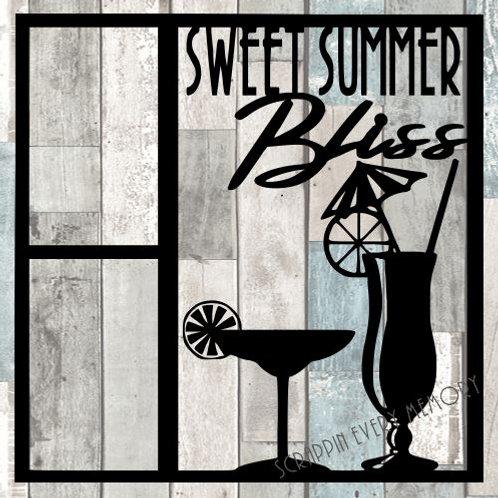 Sweet Summer Bliss Scrapbook Overlay