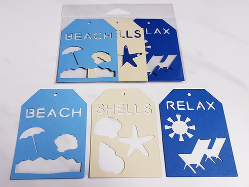 Beach Deluxe Word Tags