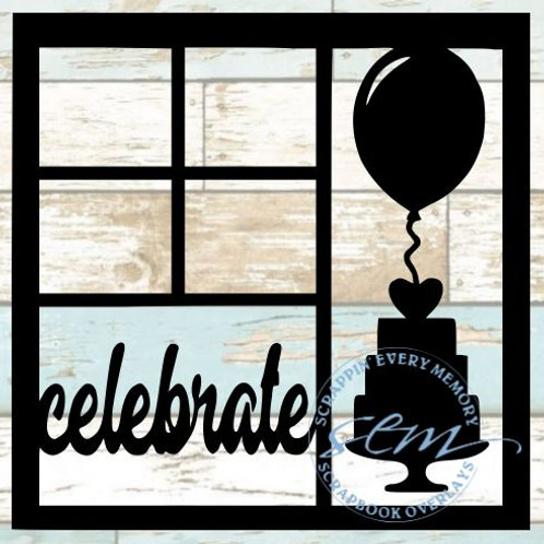 Celebrate Scrapbook Overlay