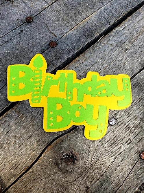 Birthday Boy Paper Piecing Die Cut