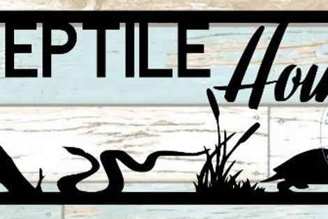 Reptile House Scrapbook Title
