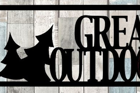Great Outdoors Scrapbook Title