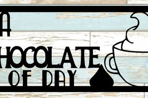 It's A Hot Chocolate Kind Of Day Scrapbook Title