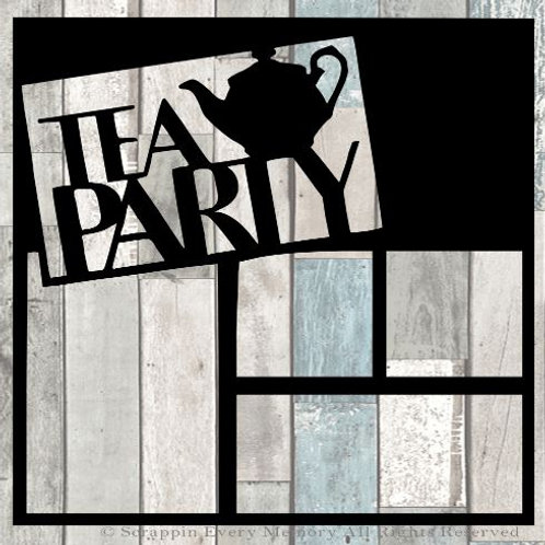 Tea Party Scrapbook Overlay