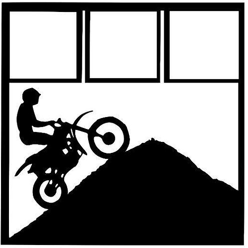 Motocross Scrapbook Overlay