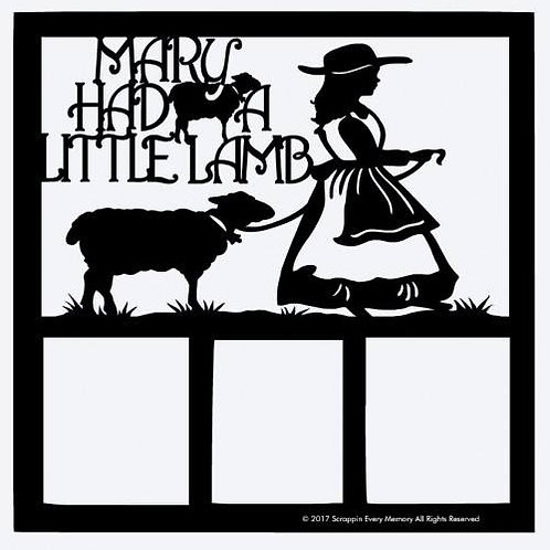 Mary Had A Little Lamb Scrapbook Overlay