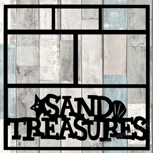 Sand Treasures Scrapbook Overlay