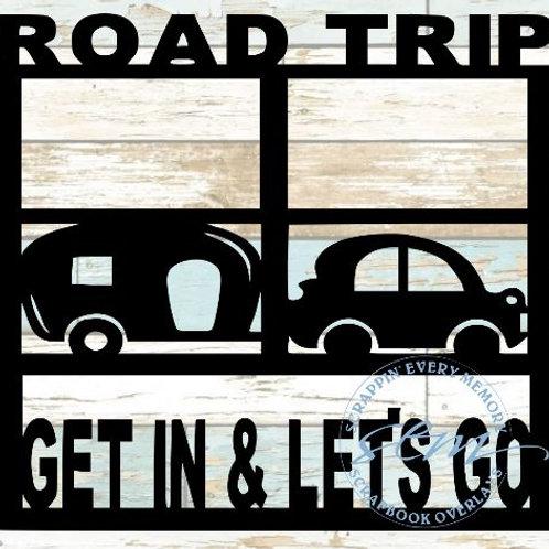 Road Trip Get In & Let's Go Scrapbook Overlay