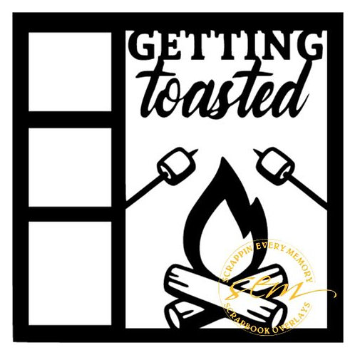 Getting Toasted Scrapbook Overlay