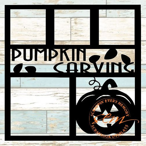 Pumpkin Carving Scrapbook Overlay