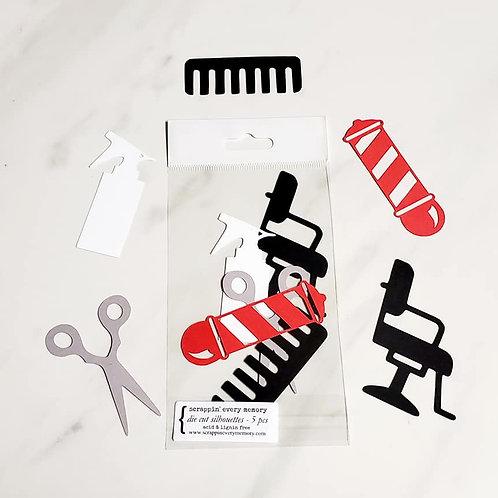 Haircut Die Cut Silhouette Mini Set