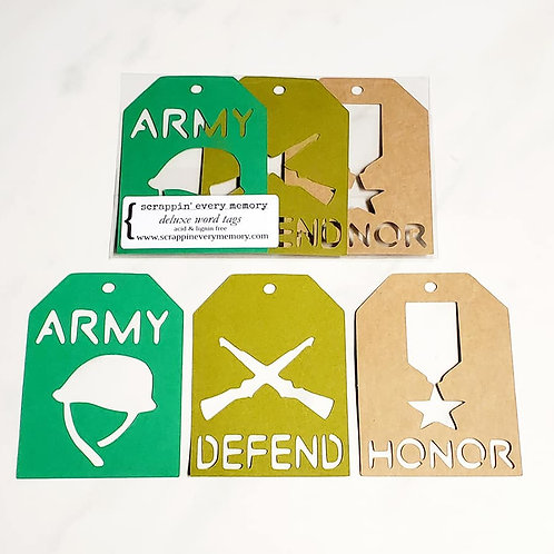Army Deluxe Word Tags