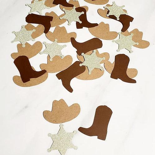 Cowboy Sheriff Scrapbook Page Confetti