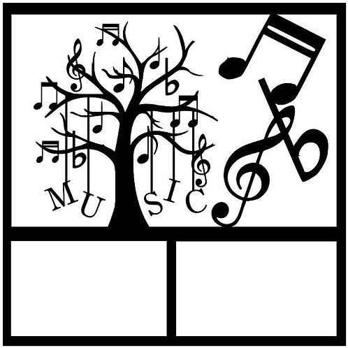 Music Tree Scrapbook Overlay