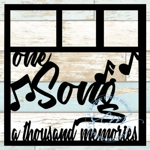 One Song A Thousand Memories Scrapbook Overlay