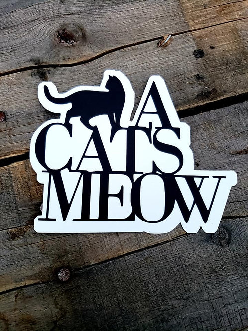 A Cat's Meow Paper Piecing Die Cut
