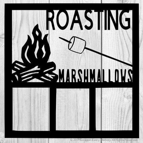 Roasting Marshmallows Scrapbook Overlay