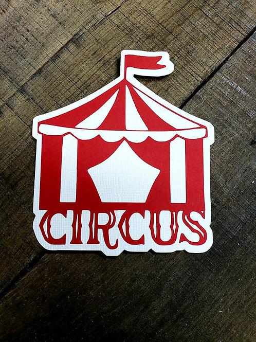 Circus Paper Piecing Die Cut
