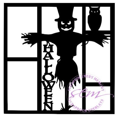 Halloween Scarecrow Scrapbook Overlay