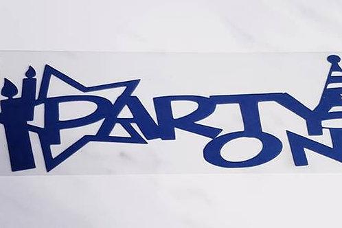 Party On Scrapbook Deluxe Die Cut