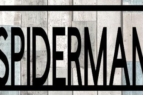 Spiderman Scrapbook Title