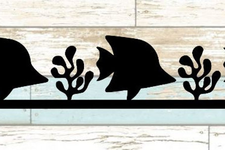 Tropical Fish Scrapbook Border